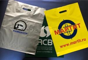 Заказанные в РекТоргПринт пакеты ПВД с логотипами.