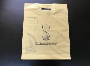 Полиэтиленовый пакет с логотипом в 1 цвет