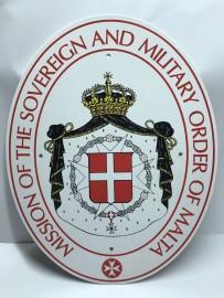Пример сувенира с логотипом (гербовое изображение на металле)