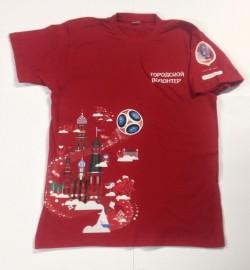 Футболка с логотипом Городской волонтёр