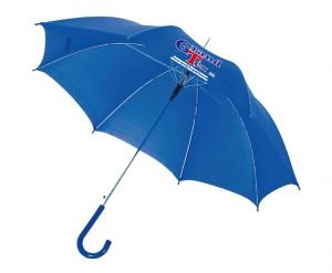 Зонт-трость с логотипом синий