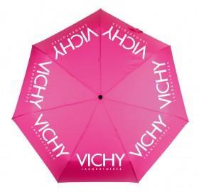Зонт с логотипом VICHY розовый