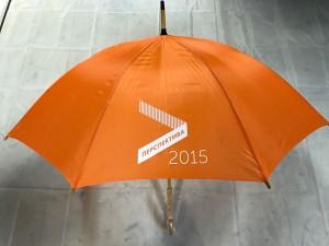 Зонт трость с логотипом ПЕРСПЕКТИВА 2015