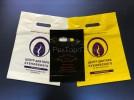 Нанесение логотипов на пакеты разного цвета