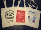 Печать логотипов на холщовых сумках