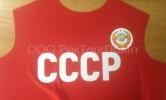 Печать на крое футболок СССР (июнь 2018)